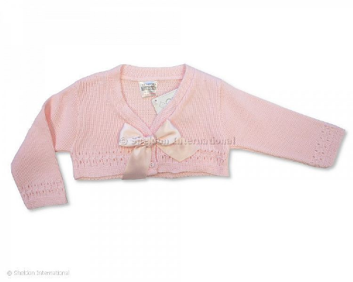 Pink Bolero with Large Bow